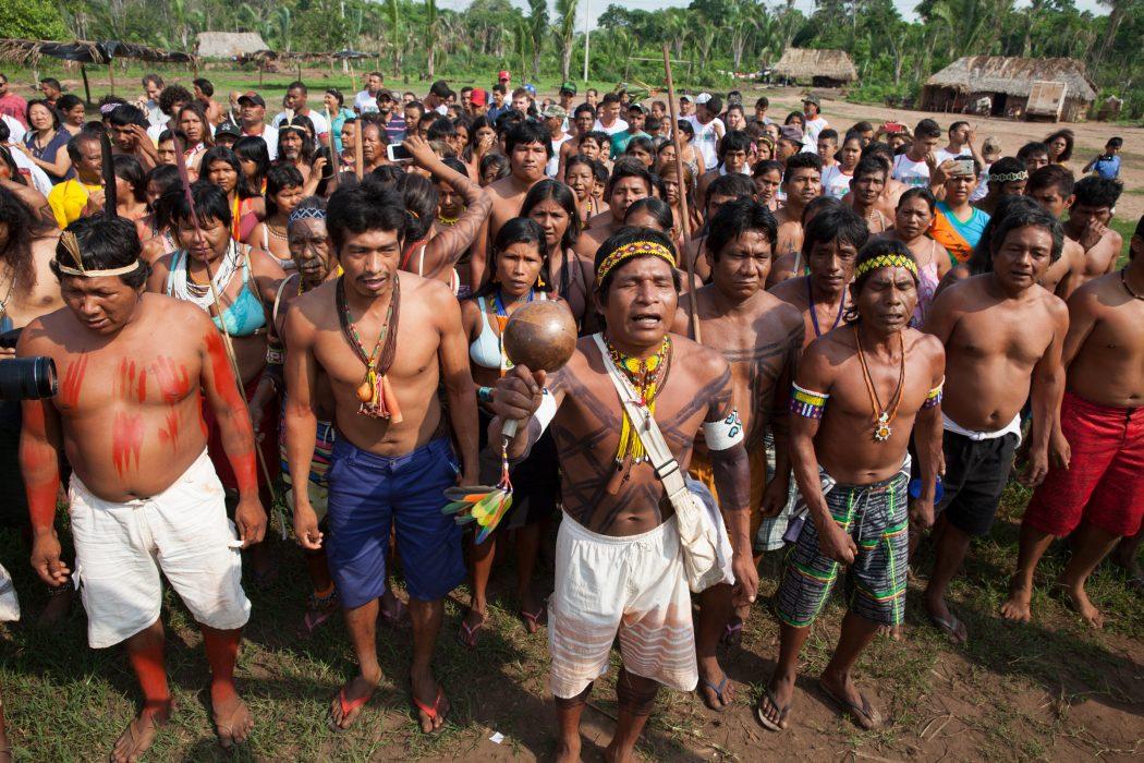 Indígenas Apinajé, Krahô, Xerente, Canela e Avá Canoeiro no encontro. Foto: Edson Prudencio/APA-TO