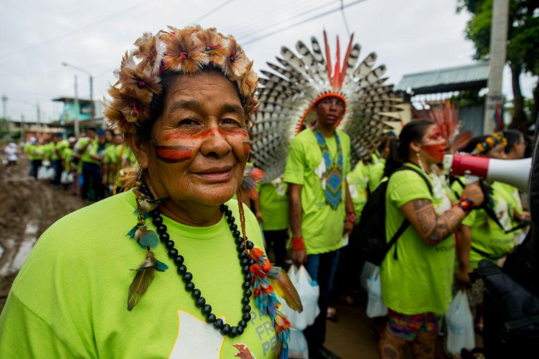 Adelice Pataxó, do extremo sul da Bahia, participou da delegação brasileira em Puerto Maldonado. Foto: Tiago Miotto/Cimi