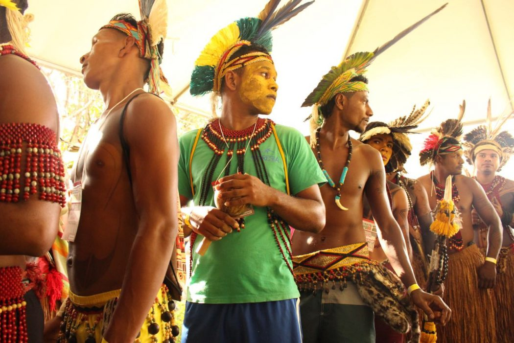 Juventude Pataxó presente na Plenária de Abertura. Foto: Yuri Barbosa/MNI