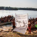 Mulheres Munduruku divulgam nota direto de um garimpo localizado na terra indígena