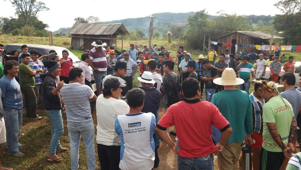Cerca de 500 indígenas Kaingang realizam ato na TI Rio dos Índios. Foto: Ivan César Cima/Cimi Regional Sul