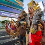 Vídeo: Estudantes indígenas marcham até AGU pela revogação do Parecer AntiDemarcação